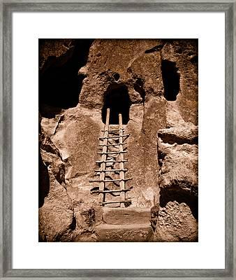 Bandelier National Monument, New Mexico - Ladder Face Framed Print