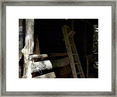 Ladder In The Shadow Framed Print by Richard Gregurich