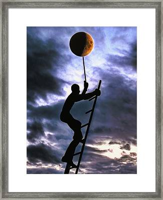 Ladder To The Moon Framed Print