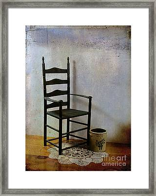 Ladderback Framed Print by Judi Bagwell