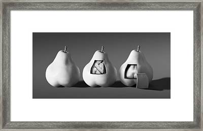 Ladies In Pears Framed Print by Ron Schwager