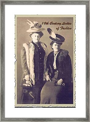 Ladies Of Fashion Framed Print