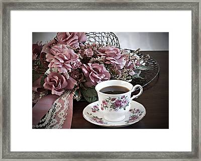 Ladies Tea Time Framed Print by Sherry Hallemeier