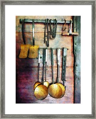 Ladles And Spatulas Framed Print by Susan Savad