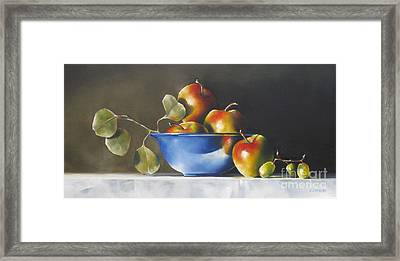 Lady Alice Apples Framed Print by Daniele Lemieux