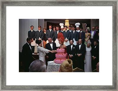 Lady Bird Johnson Thanks Carol Channing Framed Print by Everett