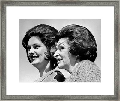 Lady Bird Johnson, The First Lady Framed Print by Everett