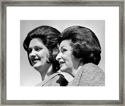 Lady Bird Johnson, The First Lady Framed Print by Everett