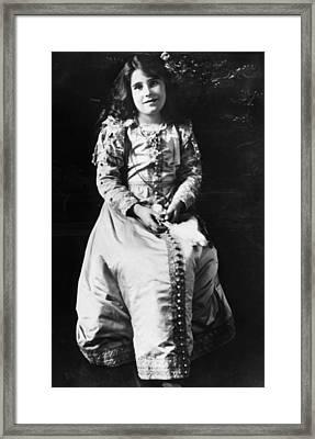Lady Elizabeth Bowes-lyon 1900-2002 Framed Print by Everett