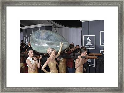 Lady Gaga At Arrivals For The 53rd Framed Print