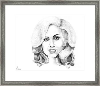 Lady Gaga Framed Print by Murphy Elliott