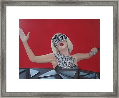 Lady Gaga Poker Face Framed Print by Kristin Wetzel