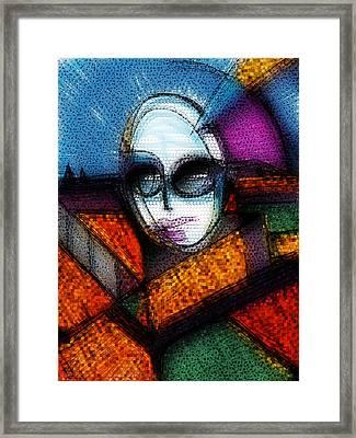 Lady Gaga Framed Print by Russell Pierce