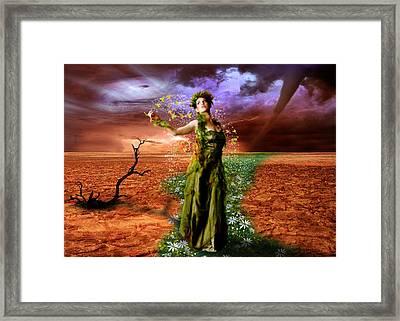 Lady Gaia Framed Print by Julie L Hoddinott