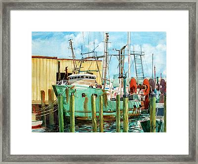 Lady Grace Trawler Framed Print by Peter Sit