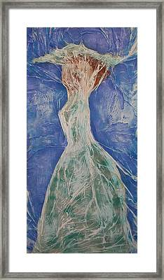 Lady In Green Framed Print by Angela Stout