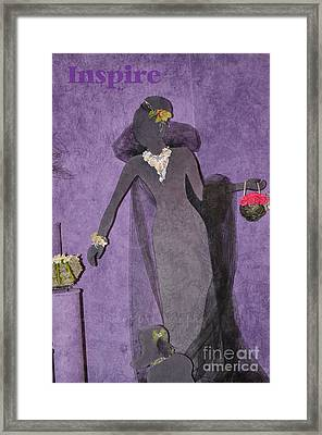 Framed Print featuring the photograph Lady In Grey by Tamera James