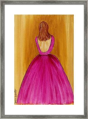 Lady In Pink 4536 Framed Print by Jessie Meier