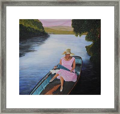 Lady In Pink Framed Print by Siobhan Lawson