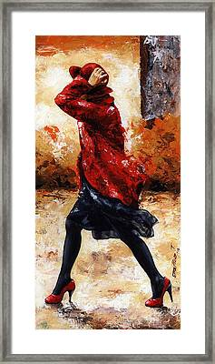 Lady In Red 28 Framed Print by Emerico Imre Toth