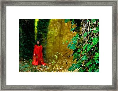 Lady In Red - 8 Framed Print by Okan YILMAZ