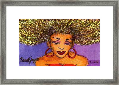 Lady In Red Framed Print by Carole Joyce