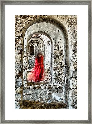 Framed Print featuring the photograph Lady In Red by Okan YILMAZ