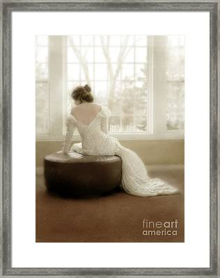 Lady In Sequin Gown Framed Print by Jill Battaglia