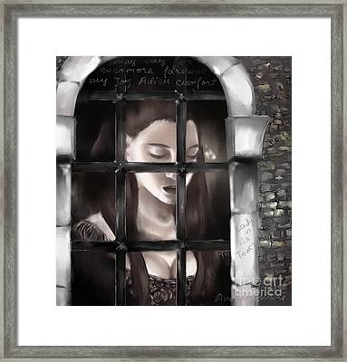 Lady In The Tower Framed Print by Nadja Pilitsyna