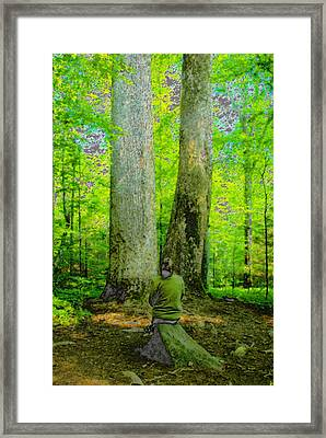 Lady In The Woods Framed Print by David Lee Thompson