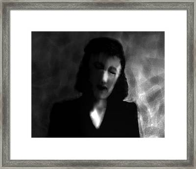Lady In Torment Framed Print