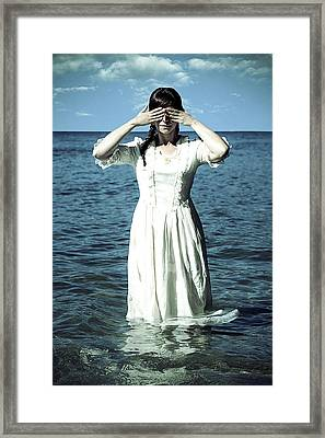 Lady In Water Framed Print