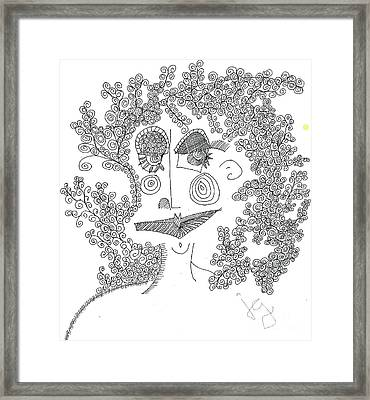 Lady Framed Print