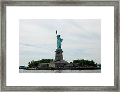 Lady Liberty Framed Print by Beverly Hammond