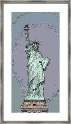 Lady Liberty Framed Print by Mickey Hatt