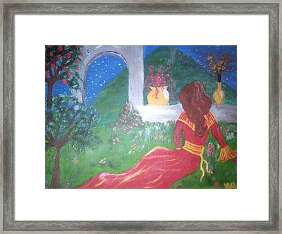 Lady Lounging  Framed Print by Violette Meier