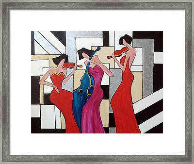 Lady Musicians Framed Print