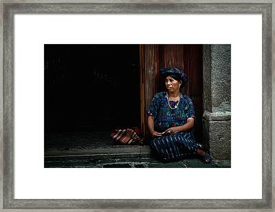 Lady Of Antigua Framed Print by Tom Bell