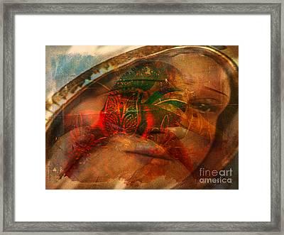 Lady Of Faith Framed Print by Fania Simon