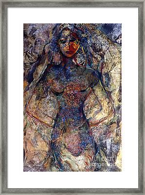 Lady Of Los Lunas Framed Print by Charles B Mitchell