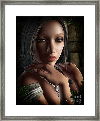 Lady Of Shalot Framed Print by Georgina Hannay