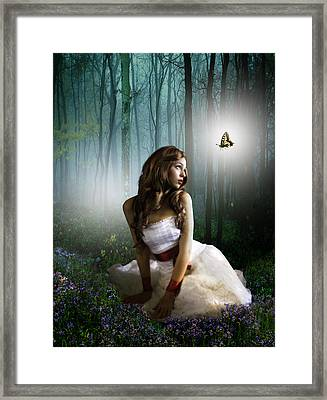 Lady Of The Light Framed Print by Julie L Hoddinott