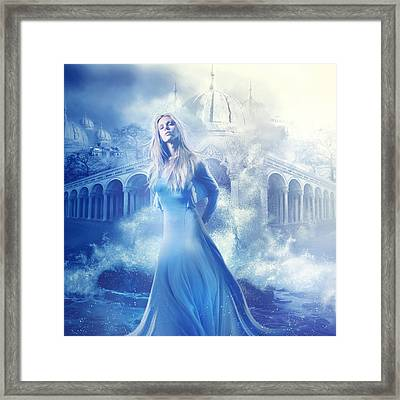 Lady Of The Water Framed Print