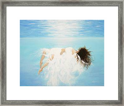 Framed Print featuring the painting Lady Of The Water by Kume Bryant