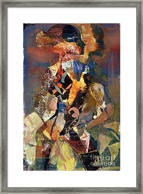 Lady Of Tucumcari Framed Print by Charles B Mitchell