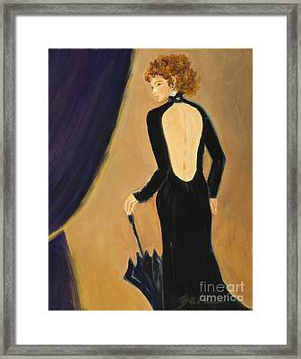 Lady On Stage Framed Print
