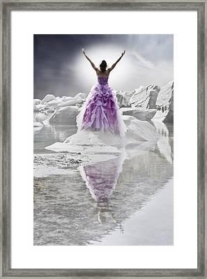 Lady On The Rocks Framed Print by Joana Kruse