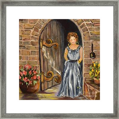 Lady Waiting Framed Print