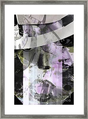 Lady Wears Hat Framed Print by Fania Simon