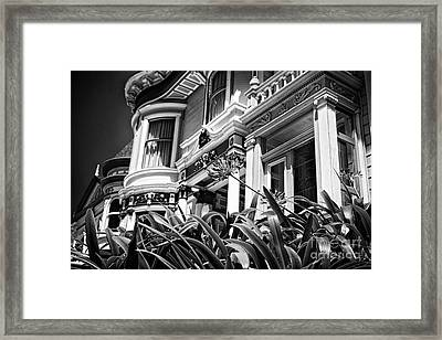Lady With A Flower - Black And White Framed Print by Hideaki Sakurai